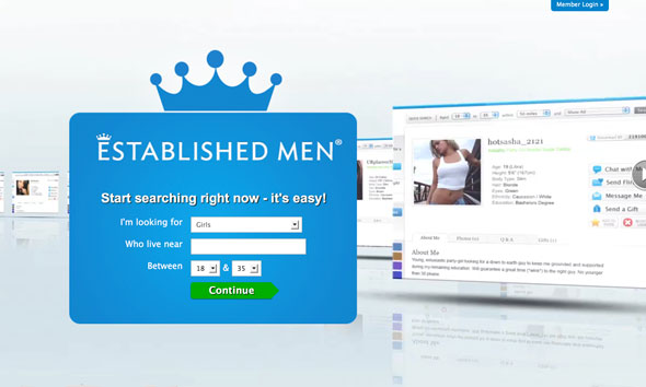 Establishedmen - Sugar Daddy Dating Review